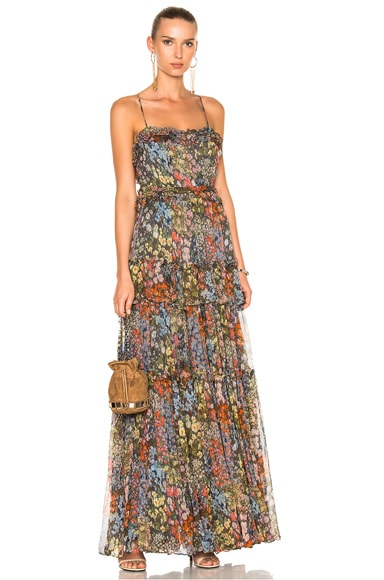 Needle & Thread Flowerbed Maxi Dress in Multi