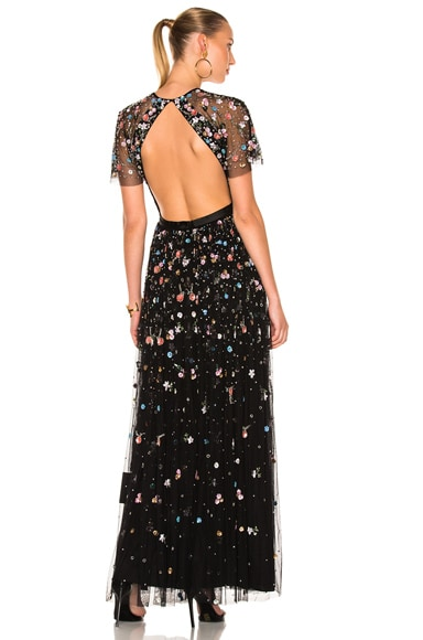 Needle & Thread Starburst Dress in Black