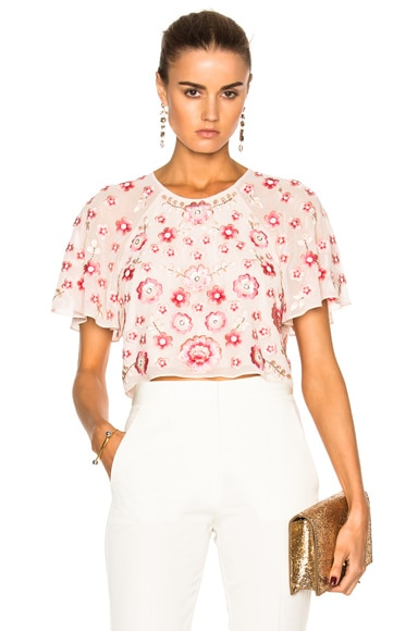 Needle & Thread Cherry Blossom Top in Petal Pink