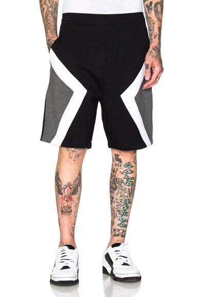 Neil Barrett Modernist Shorts in Black & Off White