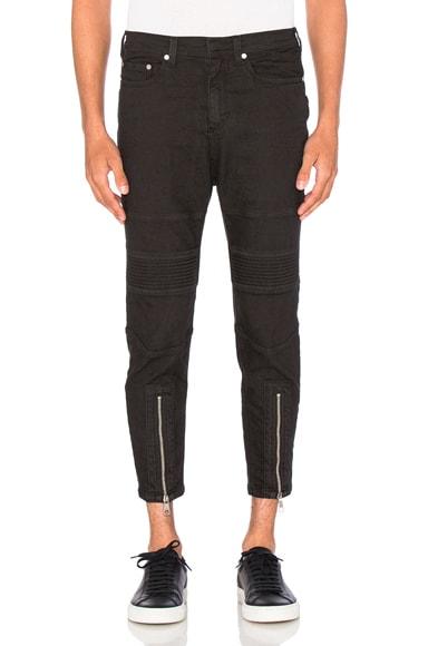 Skinny Leg Biker Jeans