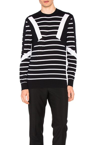 Modernist Stripe Merino Sweater