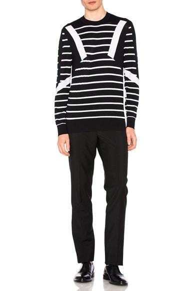 Modernist Stripe Merino Sweater