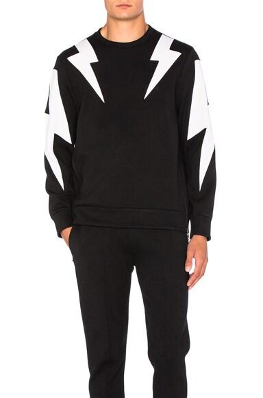 Bi Color Thunderbolt Sweatshirt