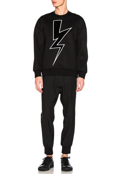 Velvet Abstract Bolt Sweatshirt