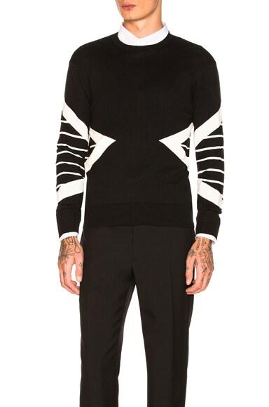 Striped Modernist Sweater
