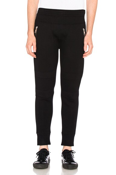 Neil Barrett Double Bonded Sweatpants in Black