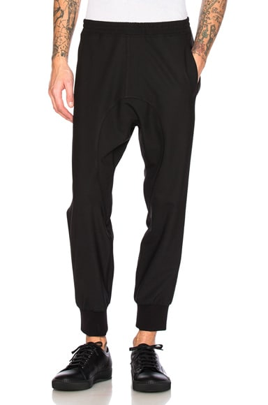 Neil Barrett Tuxedo Fine Gabardine Trousers in Black