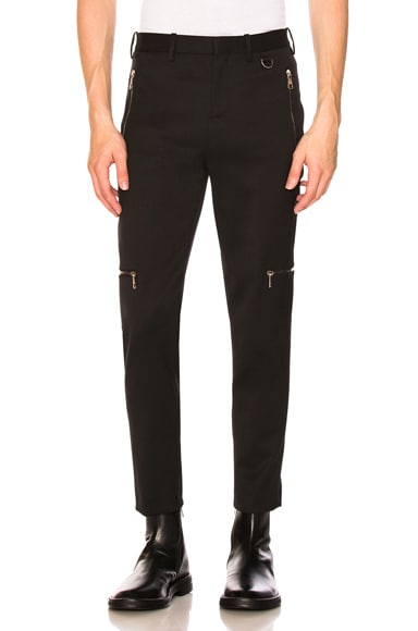 Multi Zip Super Skinny Trousers