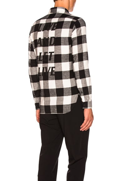 Live & Let Live Printed Flannel