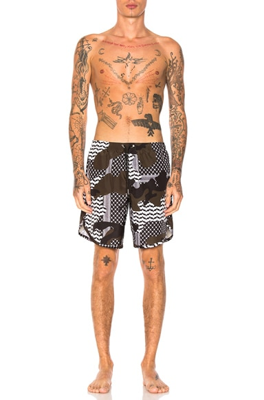 Camouflage Swim Trunks