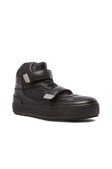 Neil Barrett Aldwich Quilted Leather Sneakers in Black