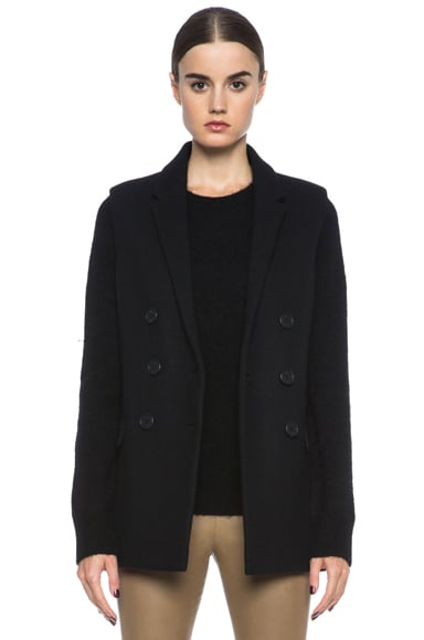 Doubled Breasted Masculine Wool Gilet