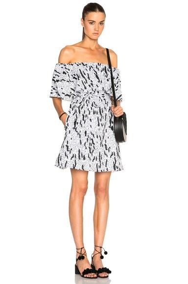 Voile Off Shoulder Dress