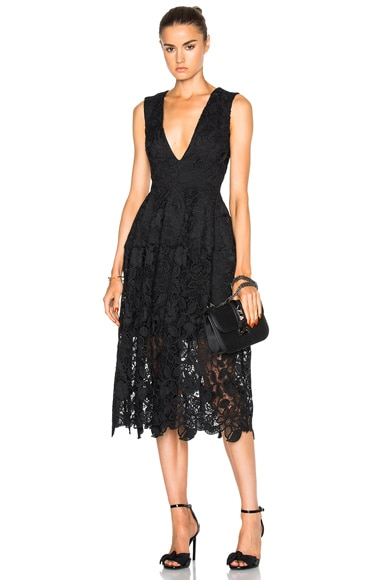 NICHOLAS Wallpaper Ball Dress in Black
