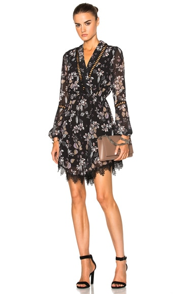 Tie Neck Floral Dress