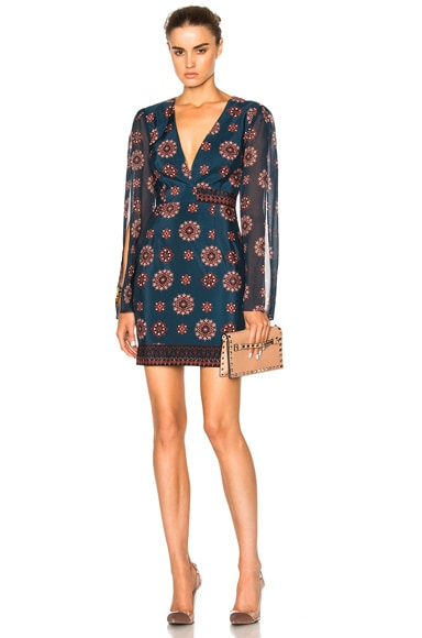 Split Sleeve Mini Dress