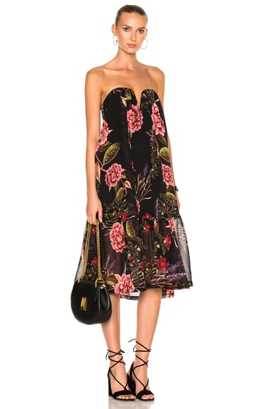 NICHOLAS Peony Floral Wrap Halter Dress in Peony Floral