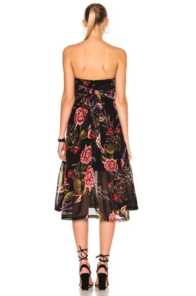 Peony Floral Wrap Halter Dress