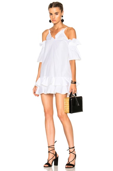 Cotton Ruffle Hem Dress
