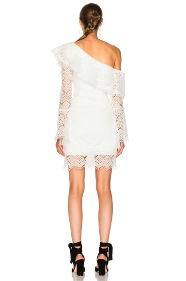 Antique Lace One Shoulder Dress