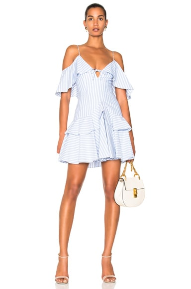 Astrid Stripe Ruffle Dress