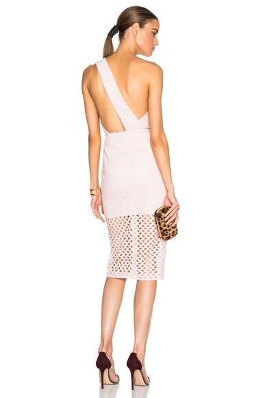 Lattice Lace One Shoulder Dress