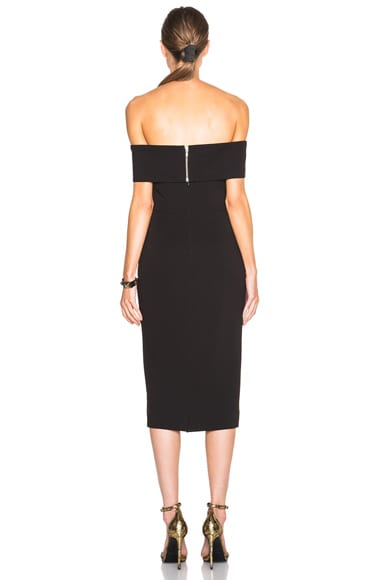 Shoulder Band V Dress