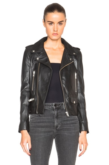 Leather Zip Biker Jacket
