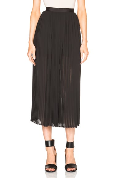 NICHOLAS Pleat Culotte Pants in Black