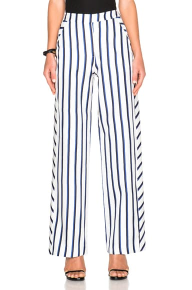 NICHOLAS Wide Leg Pants in Dual Stripe