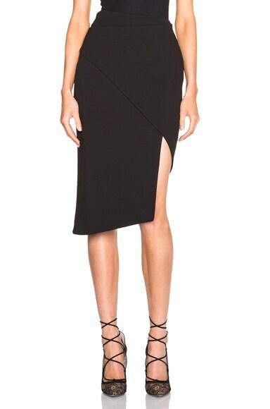 NICHOLAS Spiral Skirt in Black