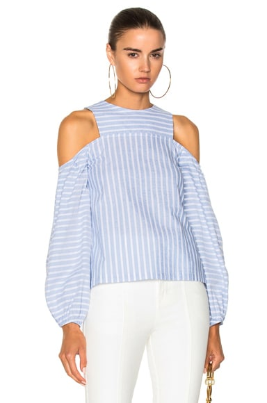 Astrid Stripe Balloon Sleeve Top