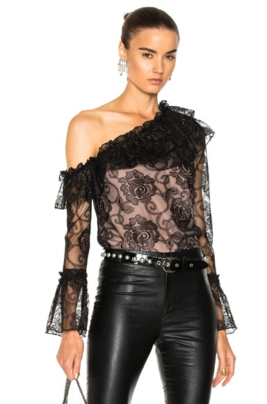 Rosie Lace One Shoulder Ruffle Top
