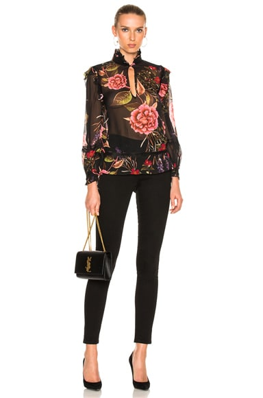 Peony Floral Ruffle Top