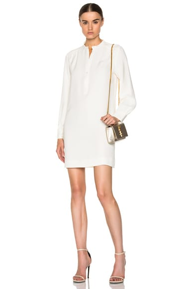 Ruched Silk Dress