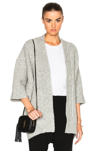 Nili Lotan Naomi Cardigan in Pewter