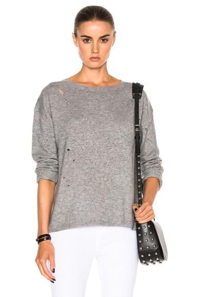 Nili Lotan Chloe Sweater in Grey Melange