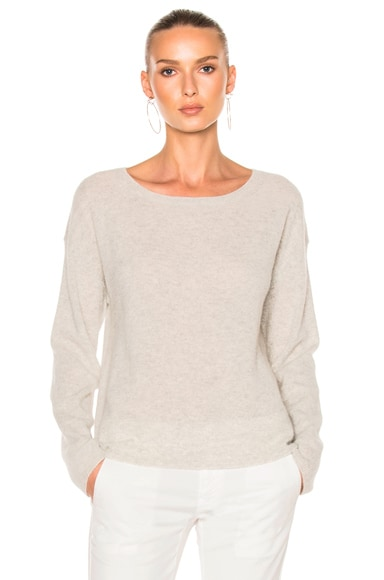 Nili Lotan Rylie Sweater in Light Gray Melange