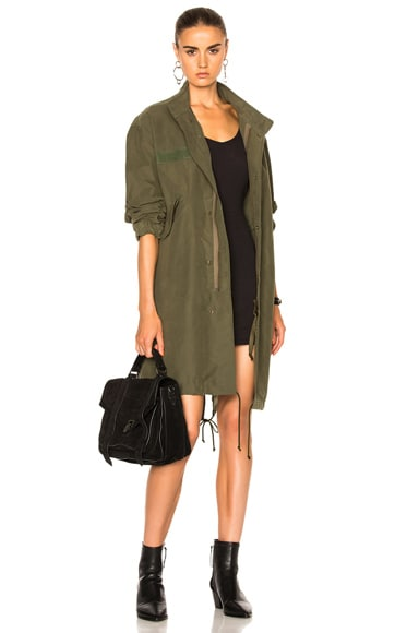 Nili Lotan West Military Jacket in Army Green