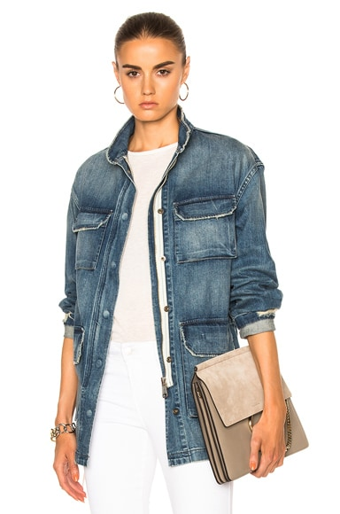 Nili Lotan Lori Military Jacket in Duane Wash