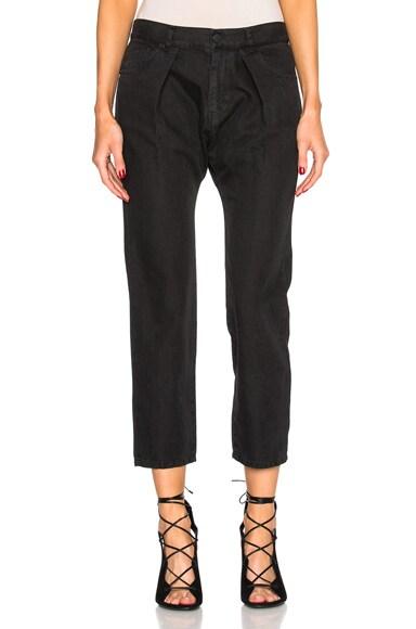 Nili Lotan Pleated Pants in Jet Black