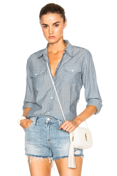 Military Chambray Top