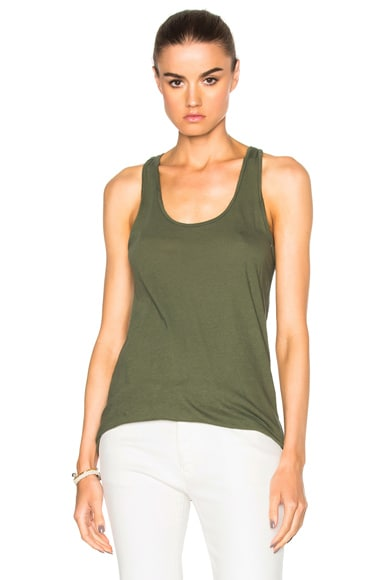 Nili Lotan Sydney Tank Top in Pine Green