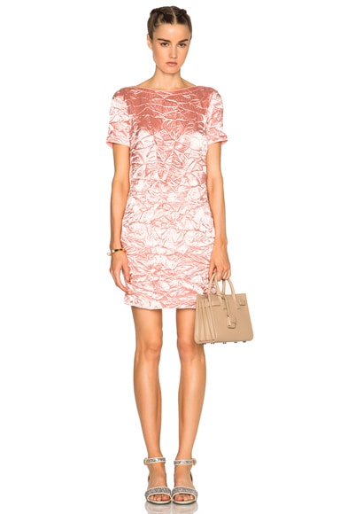Nina Ricci Short Sleeve Mini Dress in Pale Pink