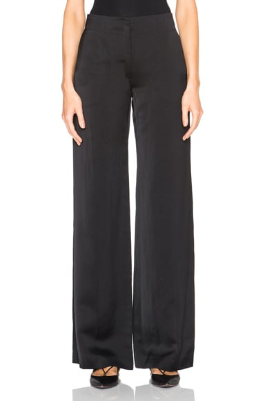 Nina Ricci Fluid Satin Trousers in Navy