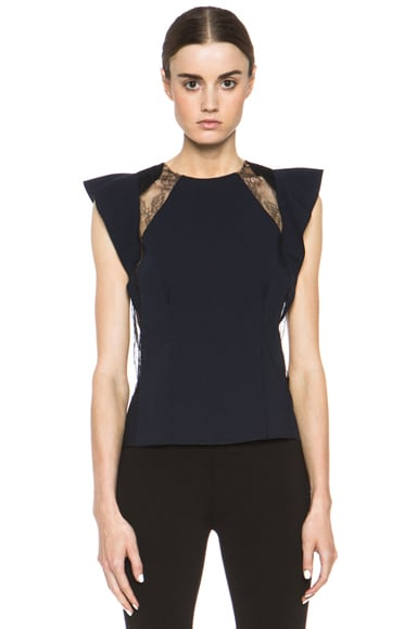 Wool, Lace & Silk Top