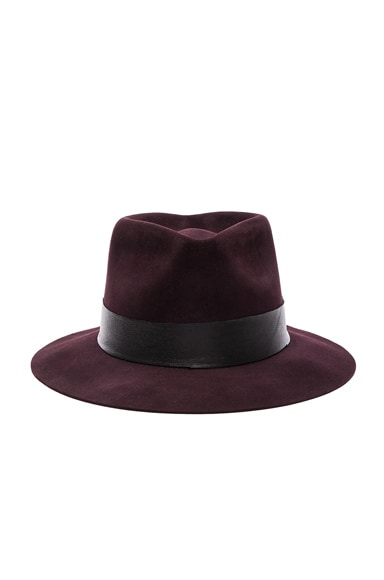 Nick Fouquet for FWRD Meritime Fedora in Black Cherry