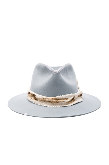 Nick Fouquet for FWRD Indio Fedora in Powder Blue