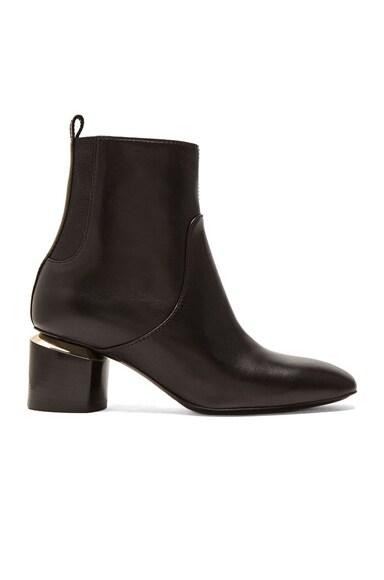 Nicholas Kirkwood Leather Ankle Booties in Black